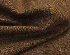 All Wool Tweed herringbone fabric jacketing Rust 2.5mts