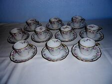 France Depose China Demitasse Cups & Saucers (10 Sets) Bailey Banks & Biddle