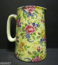 Heron Cross Pottery Rosalind Chintz English 1/2 Pint Milk Jug