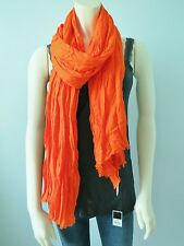 Juicy Couture Lightweight Viscose Solid Orange Scarf NwT one Size
