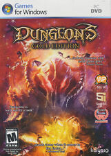DUNGEONS Gold Edition Dungeons Strategy PC Game of the Year Ed. + Dark Lord NEW