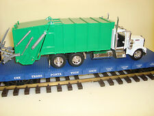 G-Scale 1/32 Die Cast Garbage Truck & USA Trains Flatcar NEW 4 Road name Choices