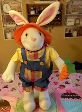 """Easter Bunny Greeter Porches Window Easter Figure Decor Boy 32"""" Tall"""