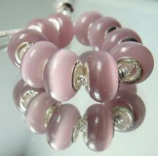 5pcs Silver Cat's Eye Opal Beads Fit Charm DIY Bracelet Necklace Wholesale 5gs5
