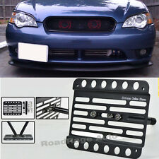 For 05-09 Subaru Legacy BL BP Front Bumper Tow Hook License Plate Mount Bracket