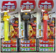 PEZ - ANGRY BIRDS 2016, set of 3 - Mint on Card (MOC) !