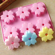 DIY Cold Soap Hand Mold Silicone Flower Cake Candy Mold Safe Candle Pudding Mold