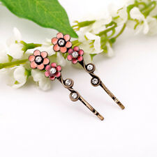 H44 Forever 21 Pink Flower Hair Bridal Pin Wedding Kids Accessories Hairpin  US