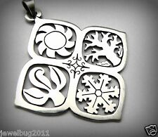 VERY Rare! HUGE James Avery 4 Seasons Pendant Sterling Silver Vintage! PRETTY!