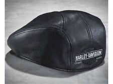 Mütze Harley-Davidson Nostalgic Leather Ivy Cap * Gr. L - schwarz Leder
