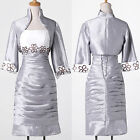 Wedding Guest Suits With Jacket Silver Womens Mother Of The Bride Outfit Dresses