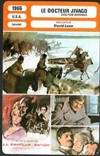 DOCTEUR JIVAGO - Sharif,Christie,Lean (Fiche Cinéma) 1966 - Doctor Zhivago