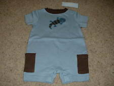 Boys Baby Lizard Blue Summer Romper Outfit Size 3-6 mos months NWT NEW Gymboree