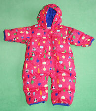 Columbia pink baby girl snowsuit pramsuit all in one with animals 6 months 3-6