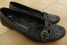 braune Damen-Schuhe Ballerina Gr. 4 ½ 38 Slipper Kennel und Schmenger K&S Leder