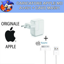 originale apple : carica batteria + cavo IPAD 2 iphone 3 4 4s alimentatore spina