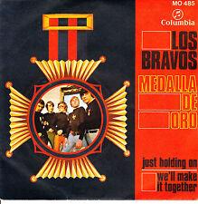 """7"""" los BRAVOS just holding on / we'll make it together 45 SPAIN 1968 VINYL"""