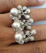 ETHNIC TRIBAL OLD SILVER DOUBLE RING FOR TOW FINGER