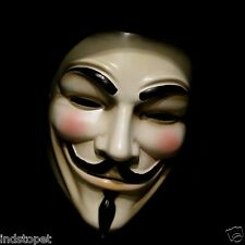 NEW V for Vendetta Anonymous Film Guy Fawkes Face Mask Halloween Fancy Cosplay