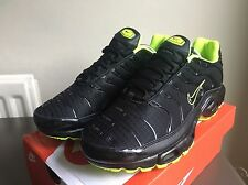 ⭐ New Nike Air Max TN U.K. Size 7 Tuned 1 Black Yellow Green 90 95 ⭐ Designer