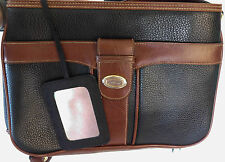 Carryland Leather Black and Brown Crossbody & Messenger With Attached Mirror
