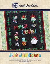HOLLY JOLLY CHRISTMAS Machine Applique Embroidery Design by LUNCH BOX QUILTS NEW