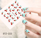 Nail Art Water Transfers Stickers Decals Sweet Cherries Cherry Gel Polish (222)