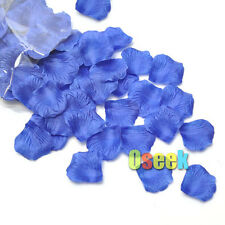 500pcs Blue Silk Rose Flower Petals Leaves Wedding Supply Party Decoration