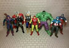 "3.75"" Marvel Universe Avengers Lot- Hulk Captain America Thor Hawkeye Iron Man"