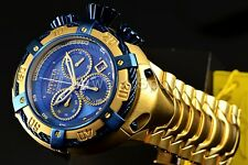 Invicta Reserve Thunderbolt Gold Stainless Steel Bracelet Watch 21347 Venom Blue