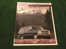 MINT 1998 CHEVROLET SUBURBAN TRUCK DEALER SALES BROCHURE  ORIGINAL (BOX 789)