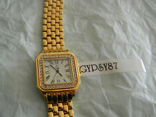 Premier Designs IT'S ABOUT TIME gold crystal watch RV $98 FREE ship w/bin