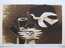 BRAQUE GEORGES LITHOGRAPHIE SIGNÉE DERRIÈRE LE MIROIR DLM 1956 SIGNED LITHOGRAPH