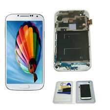 For Samsung Galaxy S4 i337 M919 White LCD Display Touch Screen Replacement Frame