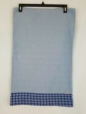 Ralph Lauren Blue White Plaid Border USA Flag Cotton 1 Standard Pillowcase
