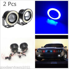 "One Pair 2.5"" 10W Blue COB Halo Angel Eye Rings Car SUV Fog Lights Driving Lamps"