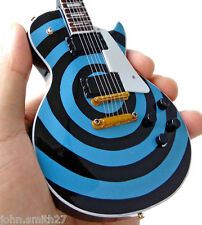 Zakk Wylde Black Label Society Pelham Blue Bullseye Miniature Guitar Ozzy