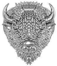 WILD BUFFALO HEAD STAINLESS STEEL RING size 8 silver metal S-509 with HORNS new