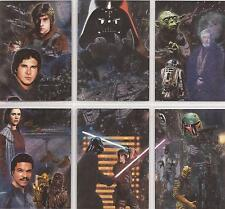 "Star Wars Galaxy 5 - ""Etched Foil Cards"" Set of 6 Chase Cards #1-6"