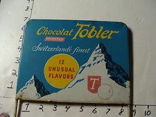 vintage Chocolat TOBLER Candy rack with original sign TOBLERONE-TOBLER CHOCOLATE