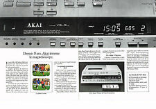 PUBLICITE ADVERTISING  1982   AKAI VS-5   magnétoscope  (2 pages)