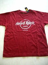 HRC Hard Rock Cafe Athen Athens Red Tee Shirt Used Optik Youth Size 158-164 Boys