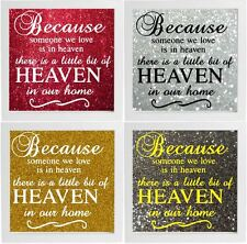Because Someone We Love Is In Heaven Decal Frame Wall Vinyl Glass Block
