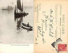 USA Illinois - Painted Ship upon Painted Ocean SENT TO WINNEBAGO 1904 (A-L 429)