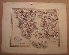 John Cary MAPPA della Grecia 1813 dal suo NUOVO atlante elementare