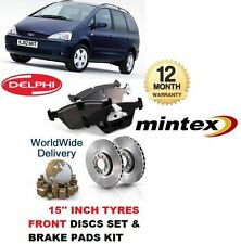 FOR FORD GALAXY 1.9 15'' 2000-2006 FRONT BRAKE DISCS SET AND DISC PADS KIT