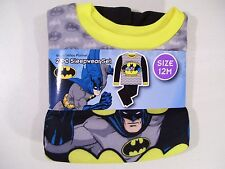 NEW BOYS TRAINING TO BE BATMAN 2 PIECE FLANNEL PAJAMA SET SIZE 12 MONTHS