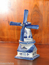 VINTAGE DELFTS BLAUW Porcelain China Pottery WINDMILL (0629)