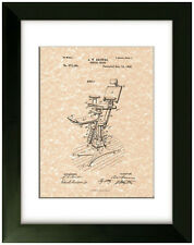 United States Patent Office Print Dental Chair Dentist Art