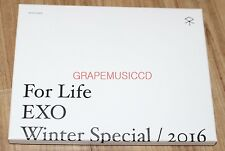EXO For Life WINTER SMTOWN COEX Artium SUM GOODS ICE TRAY WHITE + POSTCARD SET